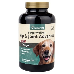 NaturVet Senior Hip & Joint Advanced Chewable Tablets 40 Count