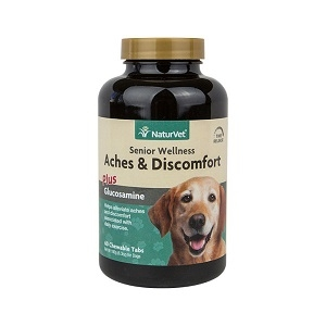 NaturVet Aches and Discomfort Senior Care Chewable Tablets 60 Count