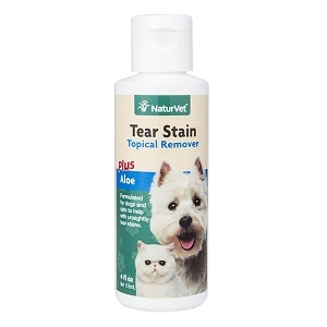 NaturVet Tear Stain Topical Remover for Dogs and Cats 4 fl. Oz.