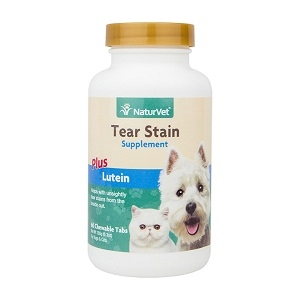 NaturVet Tear Stain Supplement Tablets for Dogs and Cats 60ct