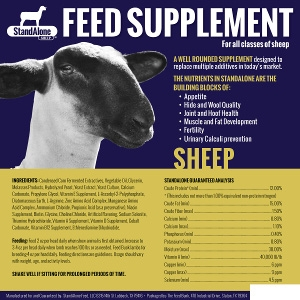StandAlone Feed Supplement Sheep - 1 Gallon