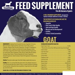 StandAlone Feed Supplement Goat - 1 Gallon