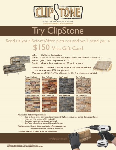 ClipStone Visa Gift Card Promotion!