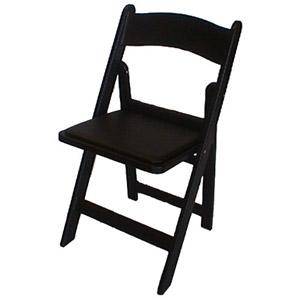 Good Black Resin Padded Garden Chairs