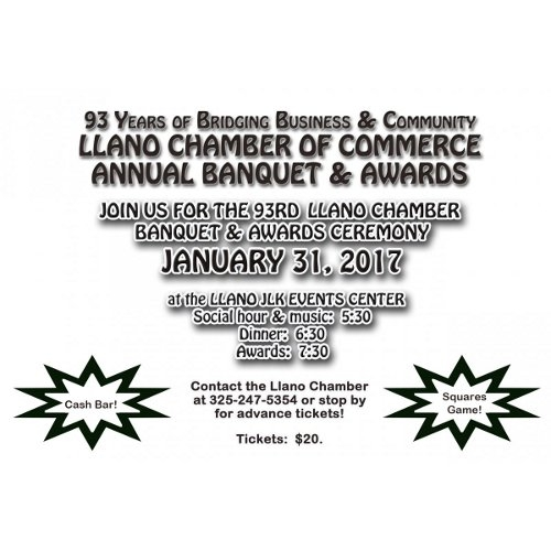 Annual Chamber Awards Banquet.