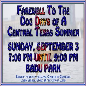 Farewell to the Dog Days of a Central Texas Summer