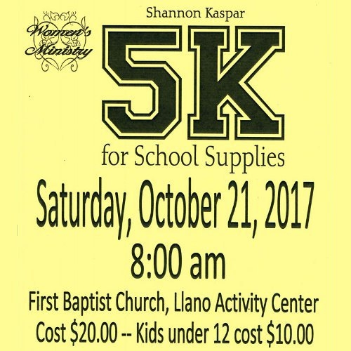 Shannon Kaspar 5K for School Supplies