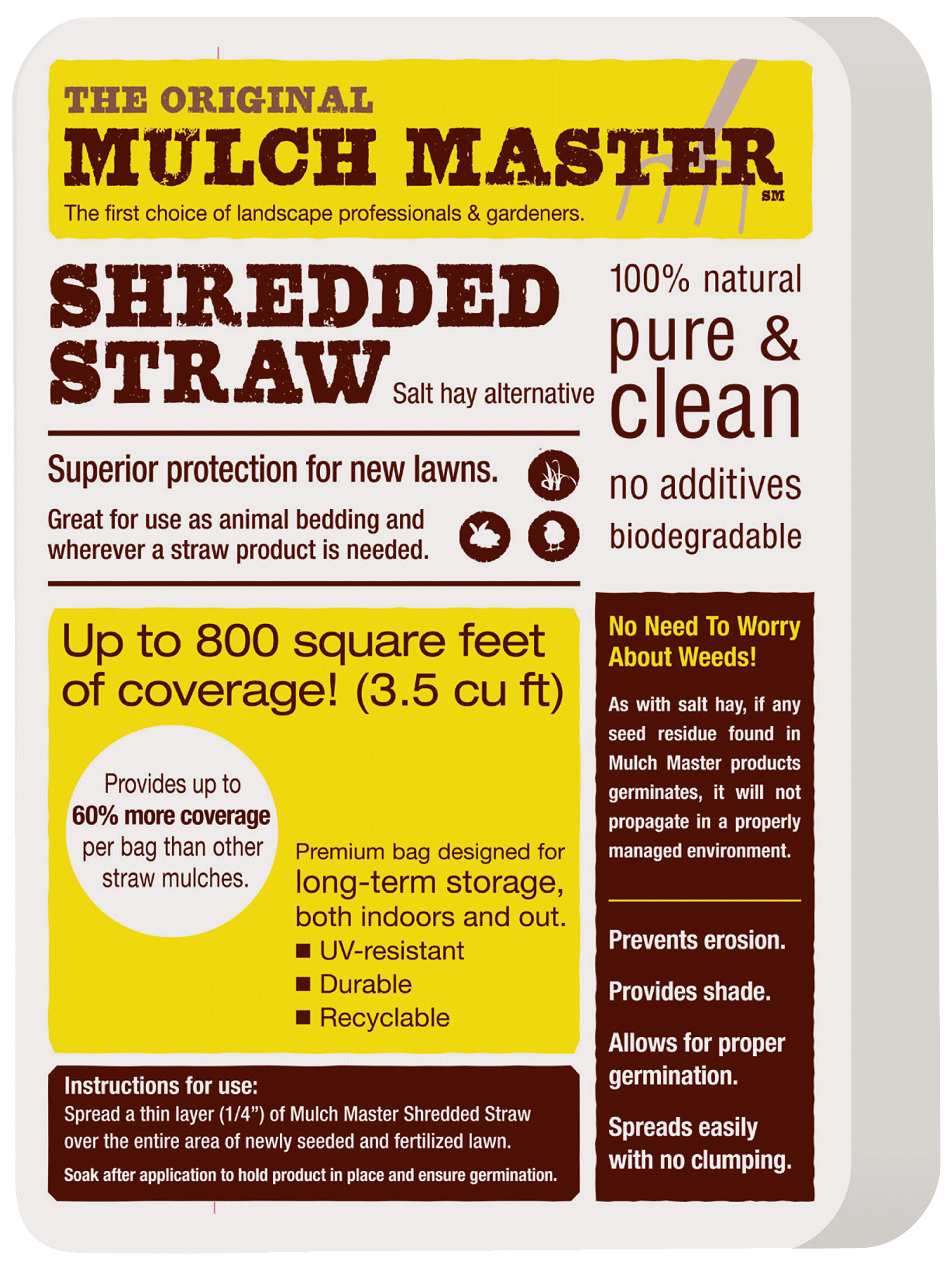 bale of mulch master straw