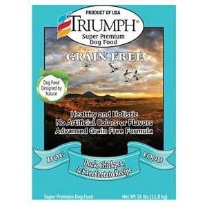 Triumph® Grain Free Duck, Chickpea & Sweet Potato Formula 26 Pound Dog Food