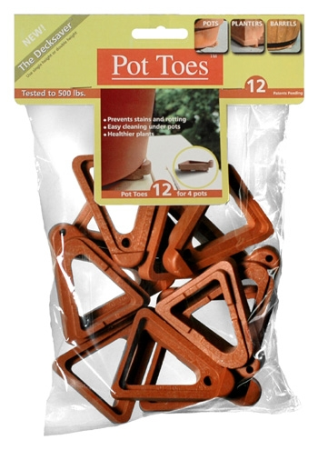 Pot Toes(R) The Decksaver-Gray (12 Pack)