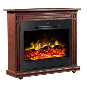 Heat Surge Roll-N-Glow Dark Oak Fireplace