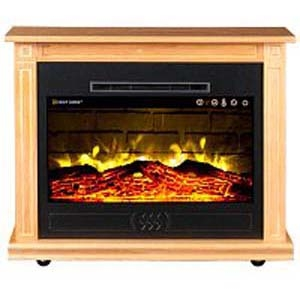 Heat Surge Roll-N-Glow Light Oak Fireplace