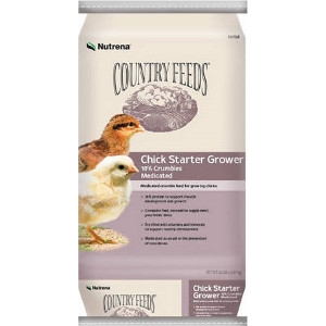 $2 Off Country Feeds 50# Medicated Starter/Grower