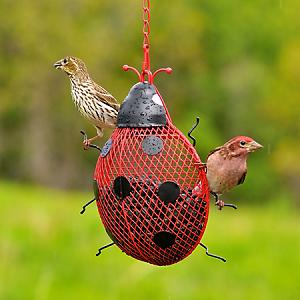 NO/NO Ladybug Mesh Wild Bird Feeder