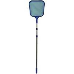 Heavy-Duty Pool Leaf Skimmer with 3 Piece Pole (Extends to 9 Feet)