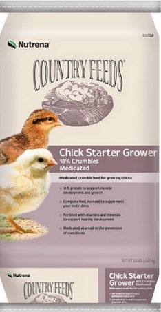 $2 Off Country Feeds Medicated Starter/Grower 50#