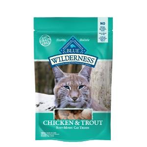 Blue Wilderness Chicken & Trout Soft-Moist Cat Treats