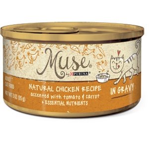 Muse by Purina natural Chicken, Tomato & Carrot Cat Food Recipe
