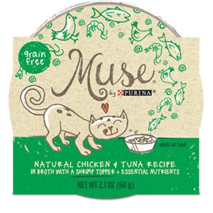 Muse by Purina natural Chicken & Tuna Cat Food Recipe