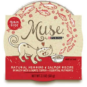 Muse by Purina natural Herring & Salmon Cat Food Recipe