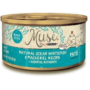 Muse by Purina Natural Ocean Whitefish & Mackerel Cat Food Pate Recipe