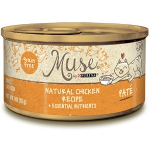 Muse by Purina Natural Chicken Cat Food Pate Recipe
