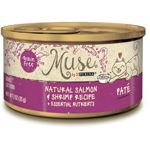 Muse by Purina Natural Salmon & Shrimp Cat Food Pate Recipe