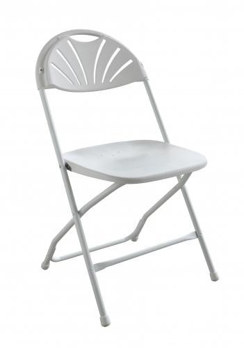 PRE White Fanback Chair