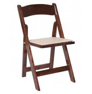 Wood Folding Chairs (Fruitwood)