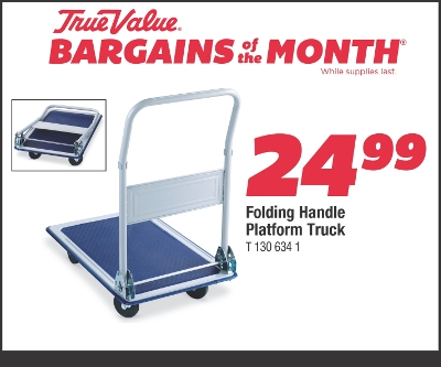 Sale $24.99 Platform Truck With Folding Handle