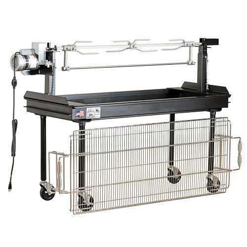 Big John M-250B Combination Charcoal Grill & Rotisserie