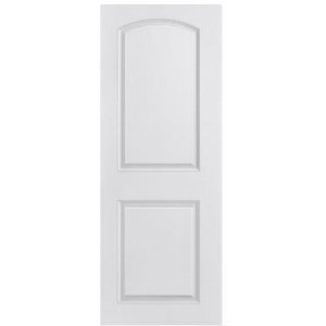 Molded Panel Series 2-Panel Arch Top Smooth Door
