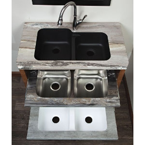 Laminate Kitchen Countertop with Undermount Sink