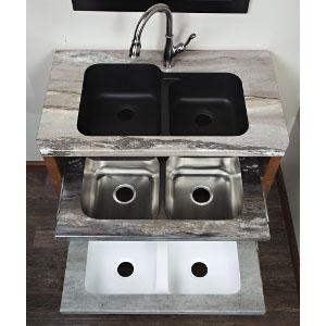 Laminate Kitchen Countertop with Undermount Sink