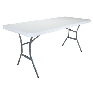 6' Poly Utility Table: $39.99