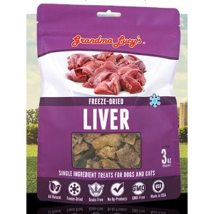 Freeze-Dried Liver Single Ingredient Treats for Dogs and Cats