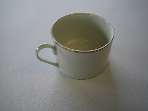 Ivory Tea/Coffee Cup with Gold Band