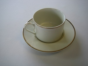 Ivory Saucer with Gold Band for Tea/Coffee Cup