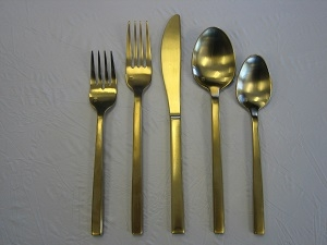 Matte Gold Finish Flatware