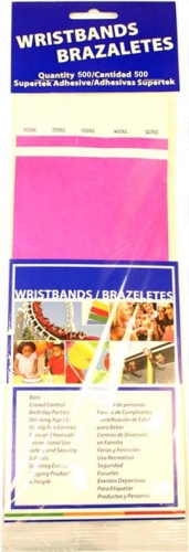 Neon Pink Wristbands