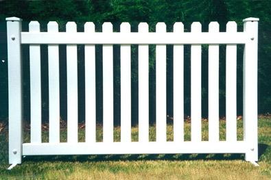 Portable PVC Picket Fence
