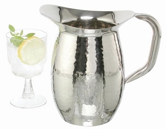 Hammered Finish Stainless Steel Pitcher