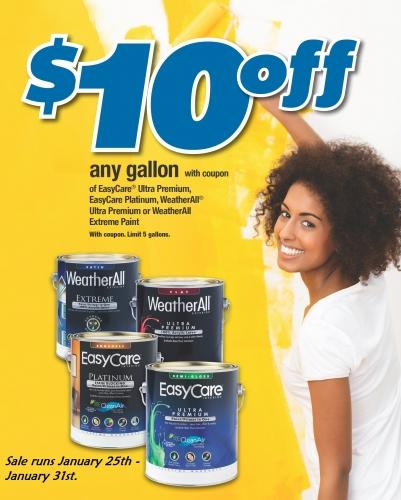 $10 Off Paint Sale