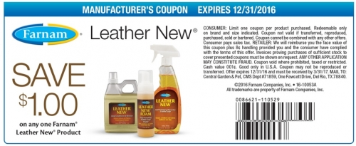 $1.00 off Leather New Products