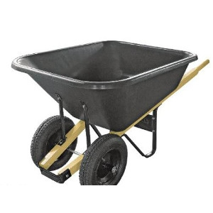 8-Cu. Ft. Poly Tray Wheelbarrow