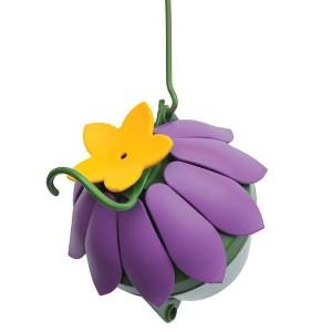 So Real Single Flower Hummingbird Feeder - Purple