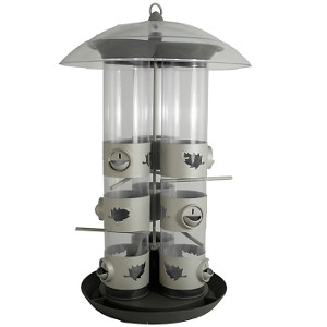 Birdscapes® 2-N-1 Triple Tube Bird Feeder