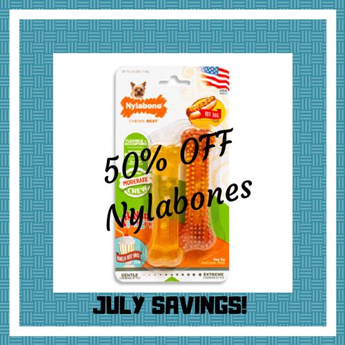 50% off Nylabones