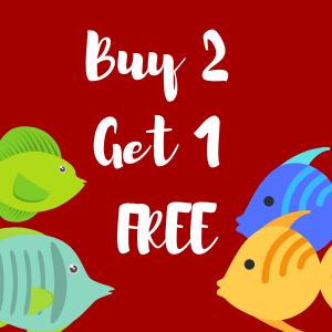Buy 2 Tropical Fish Get 1 FREE!