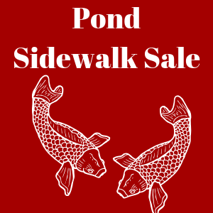 Pond Sidewalk Sale